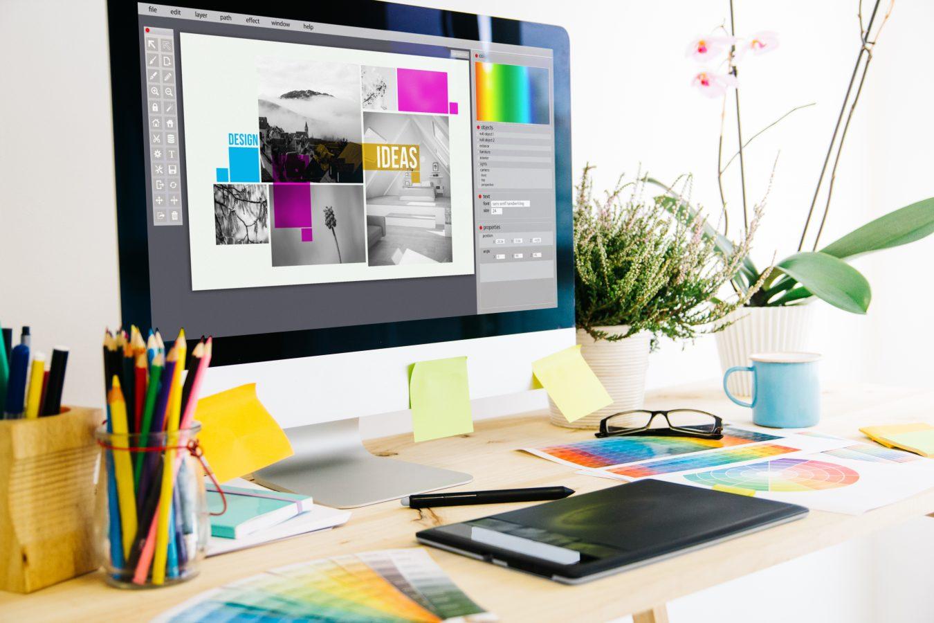 desktop for graphic designing
