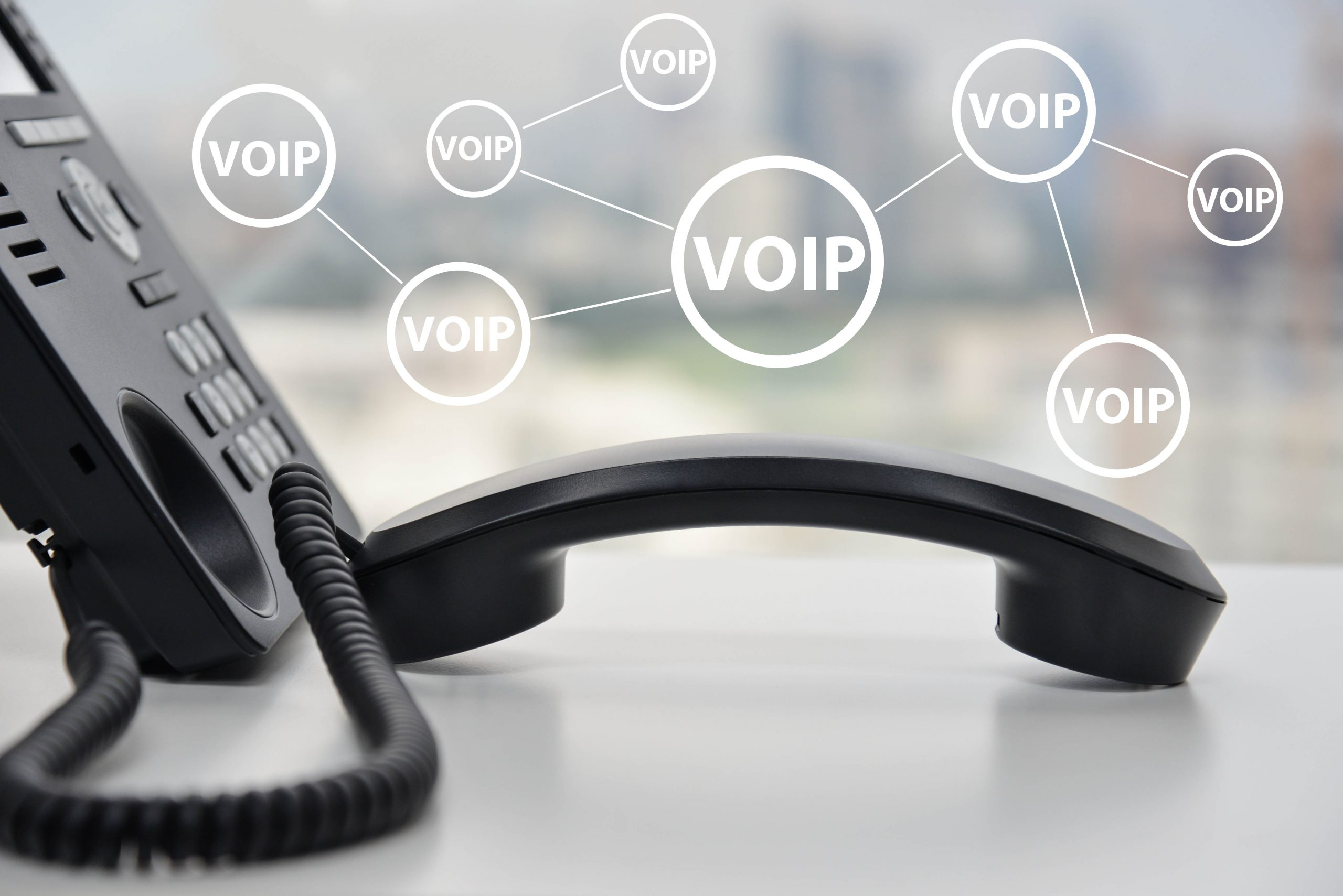 VOIP on desk, Voip diagram